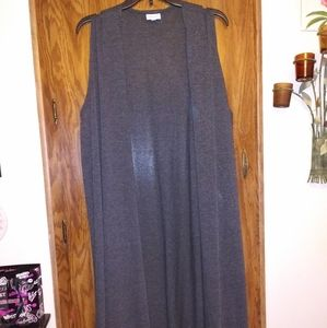 Lularoe sz XL Joy Knit Material Vest, Charcoal